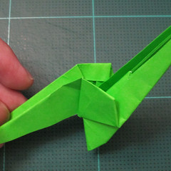 วิธีพับกระดาษเป็นรูปหอยทาก (origami Snail) 019