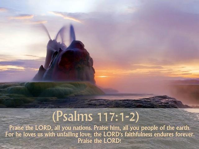 Psalm 117:1-2 nlt