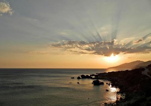 sunset sea clouds tramonto nuvole mare creta crete ligres