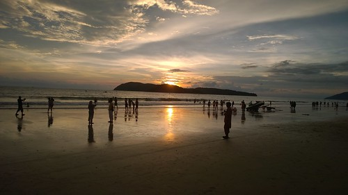 sunset vacation people sun holiday mountains beach beautiful asia sunny malaysia langkawi truly pantai cenang