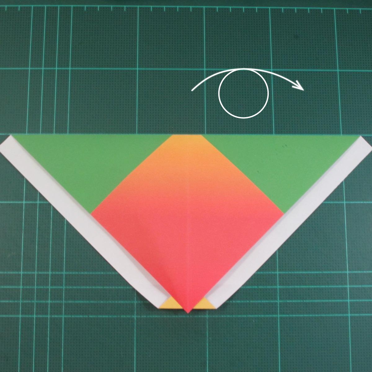 วิธีพับกระดาษเป็นรูปนกแก้ว (Origami Parrot) 006