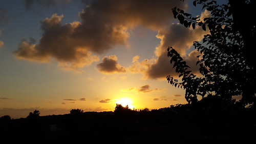 sunset sun clouds israel galil