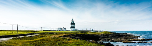 wexford lighthouse leuchtturm ireland felsen hookhead sky wasser waterford coast wolken küste countywexford irland ie himmel ocean seascape sea