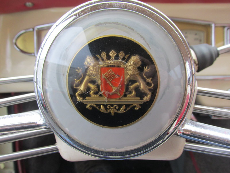Borgward Isabella '59, emblem, part view