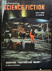 """Astounding Science Fiction (July, 1950). Photo from movie """"Destination Moon"""""""