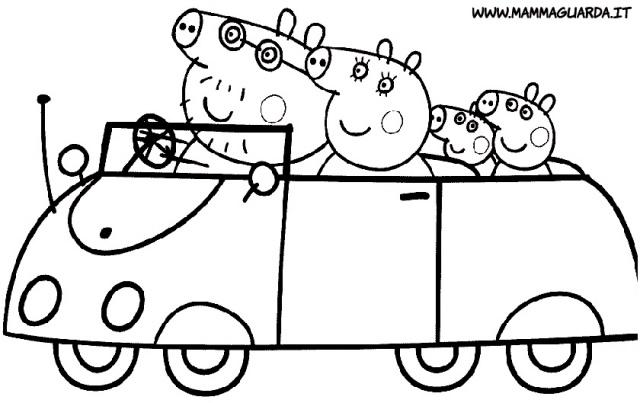 Desenhos Para Colorir Carros Desenhos Do Peppa Pig Para Co Flickr