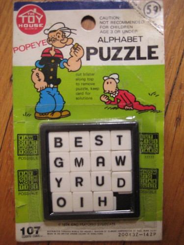 1974 Popeye Slide Tray Puzzle | by Donald Deveau