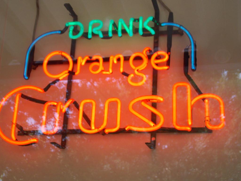 Drink Orange Crush Neon Sign---Abbeville, Al  | Lamar | Flickr