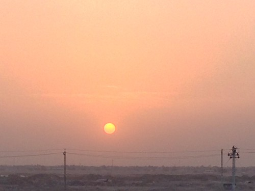 sunset dusty dust basrah