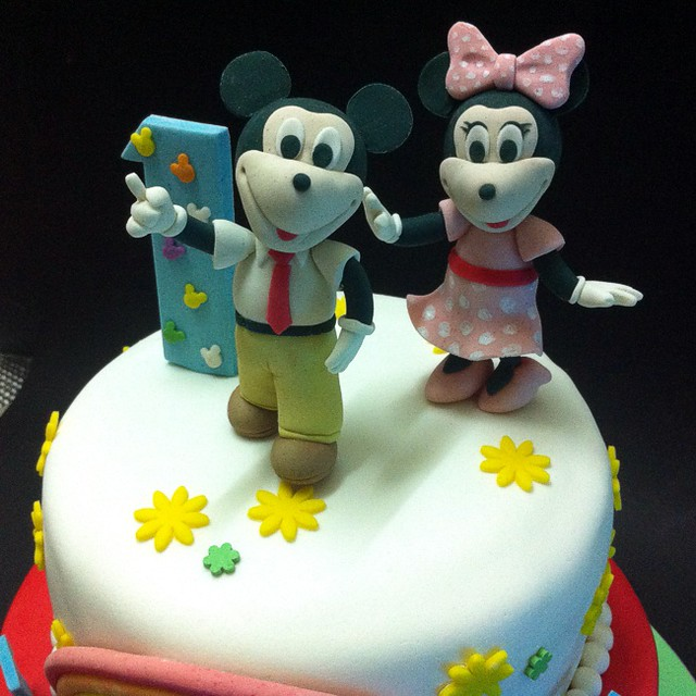 Excellent Fondant 3D Mickey Minnie Mouse Birthday Cakes Handcraft Flickr Funny Birthday Cards Online Alyptdamsfinfo