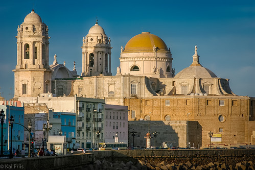 Cadiz in sunset
