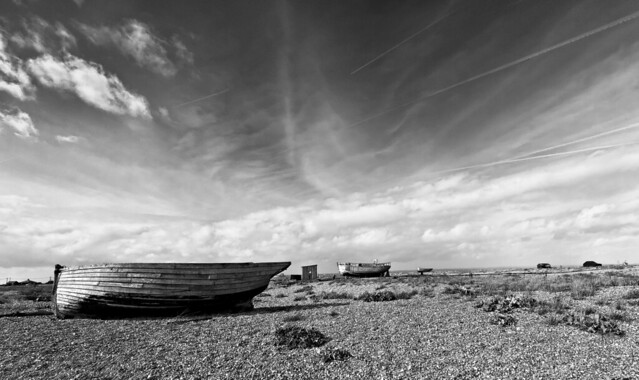 old boats on Dungeness Beach B&W [Explored 15 September 2014 ]