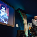 Justin Marozzi on stage at the Edinburgh International Book Festival |