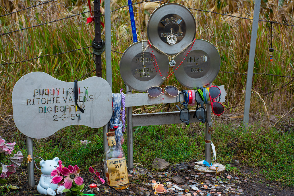 BUDDY   Memorial set up on the site where Buddy Holly, The B\u2026   Flickr