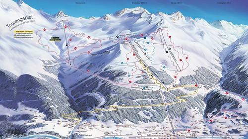 See im Paznauntal - mapa sjezdovek