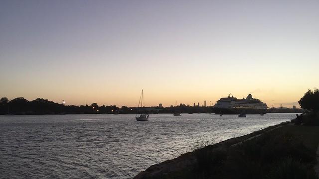 P&O Cruises Pacific Aria, Brisbane River, Queensland