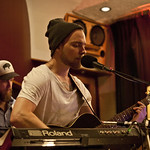 Wed, 18/06/2014 - 8:49pm - Asgeir and band for an audience of WFUV members, 6/18/14. Hosted by Carmel Holt. Photo by Laura Fedele