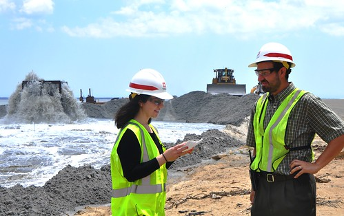 First Phase of Port Monmouth, NJ Coastal Storm Management Project Begins With Dune and Beach Construction (7-1-14) | by USACE NY