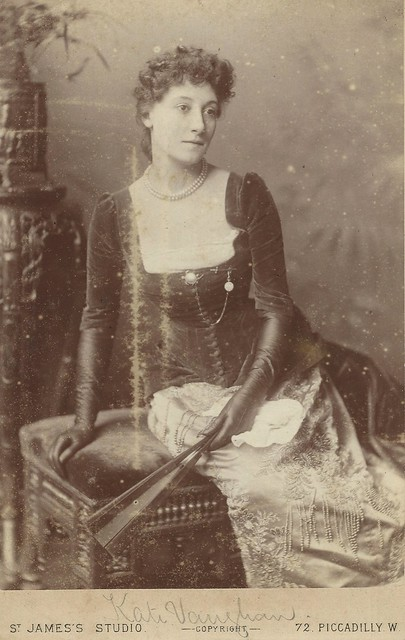 Miss Kate Vaughan (Cabinet Card by St. James Photographic Gallery, 72 Piccadilley W, London)