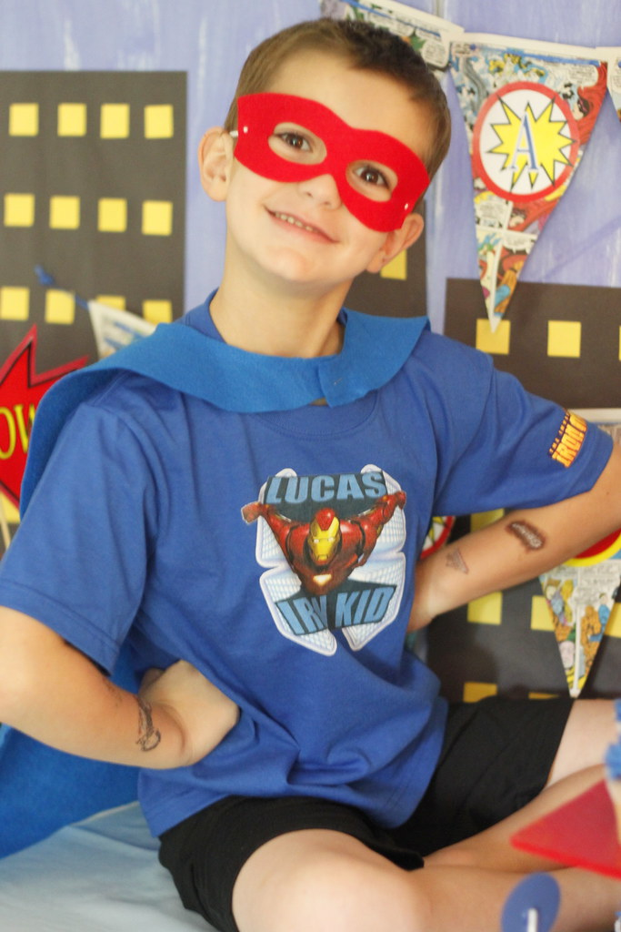 Superhero Birthday Kid | www personalcreations com You are f… | Flickr