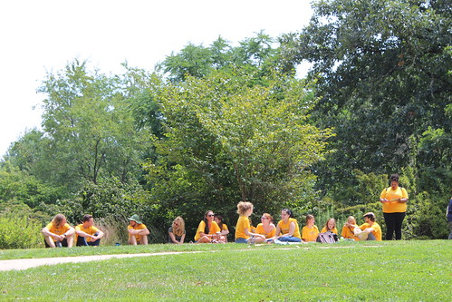 Peer group leaders on Sunderland Lawn
