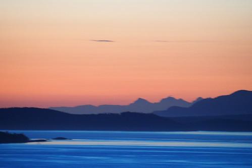ocean morning sky mountains sunrise landscape dawn coast pacific outdoor britishcolumbia victoria vancouverisland shore juandefuca cordova