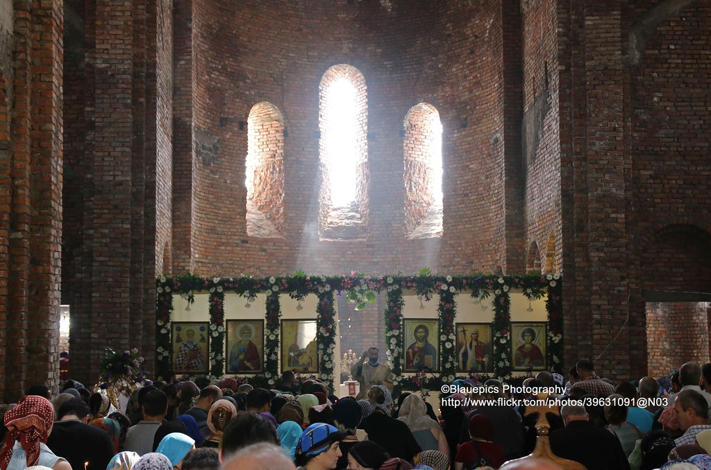 Bodbe Monastery, during mass | The Monastery of St  Nino at