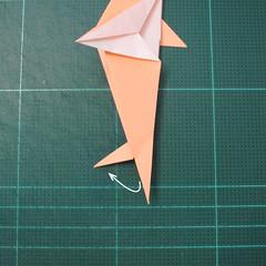 วิธีพับกระดาษเป็นรูปปลาโลมาแบบง่าย (Easy Origami Dolphin) 017