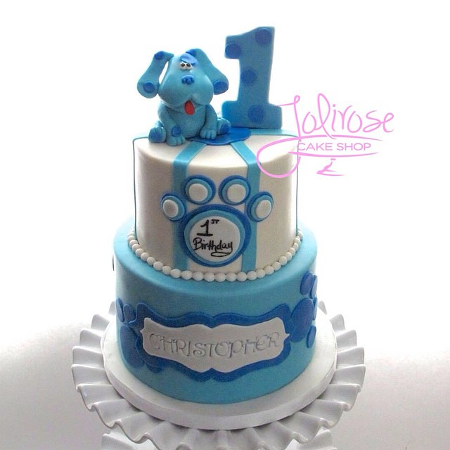 Groovy Blues Clues 1St Birthday Cake Happy 1St Birthday Chris Flickr Personalised Birthday Cards Sponlily Jamesorg