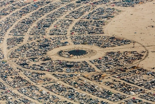178 Center Camp Aerial View Burning Man 2014 During Embrace Burn (Thank you to my pilot friend Bryan!) | by Duncan Rawlinson - Duncan.co - @thelastminute