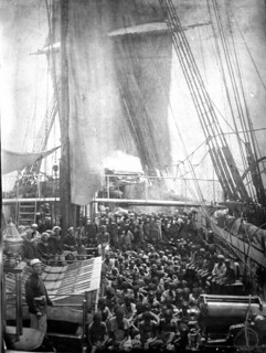 Rescued East African slaves taken aboard HMS Daphne from a dhow, November 1868 | by The National Archives UK