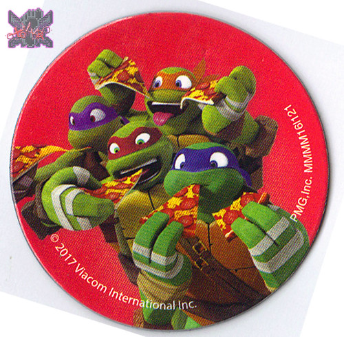 """PAPER MAGIC GROUP :: """"TEENAGE MUTANT NINJA TURTLES"""" 'Pizza Love' 16 VALENTINES with MAGNETS / MAGNET design (( 2017 )) 