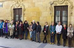 Paro de cinco minutos en solidaridad con el paro internacional de mujeres convocado en todo el mundo.