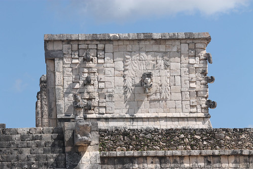 Carvings of Kukulkan, Rain God Chaac, Chichen Itza, Mexico's Yucatán Peninsula