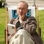 Reading in a deckchair |
