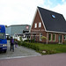 Notre camion pourra enfin être réparé. Bedford Garage, Smilde, Pays-Bas.