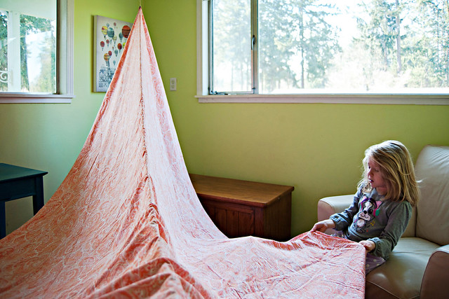 Building an Indoor Fort For Kids