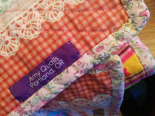 New quilt label.