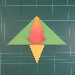 วิธีพับกระดาษเป็นรูปนกแก้ว (Origami Parrot) 023