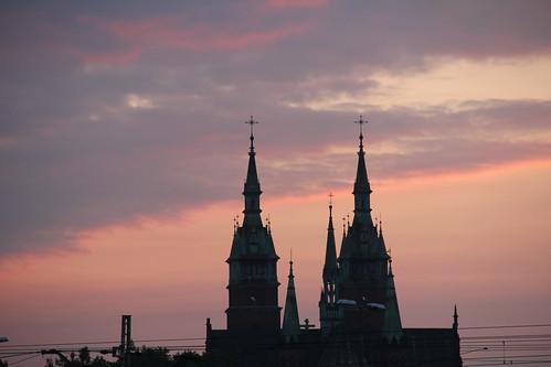 old morning urban church sunrise canon vintage buildings dawn cityscape towers poland polska historical kielce świętokrzyskie kielecczyzna canoneos550d canonefs18135mmf3556is