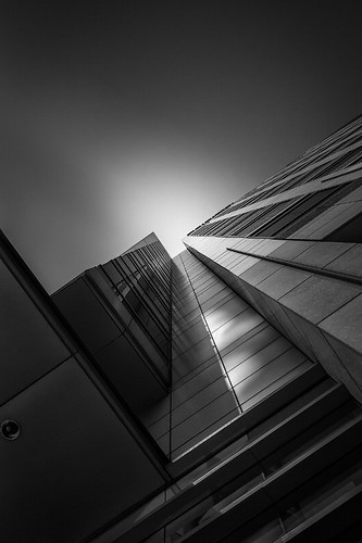 california city sky bw building glass monochrome up architecture pattern view pov steel sanjose repetition geotag 2014 em5 1235mm flvonmirikr