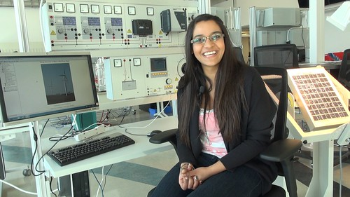 Preetpau Atwal a student in the first class of the NAIT Alternative Energy Program in Edmonton, Alberta.