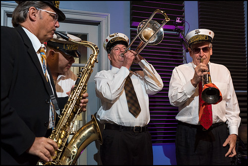Steve Burke, Bruce Brackmann, Jerry Dallman, and Larry Tallerico of Storyville Stompers perform at the WWOZ Studio on day 1 of the Spring Pledge Drive. Photo by Ryan Hodgson-Rigsbee www.rhrphoto.com