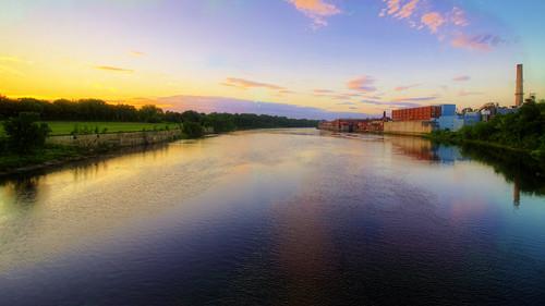 sunset water river sundown dusk waterville hdr winslow sigma1020mmf35 pentaxk30
