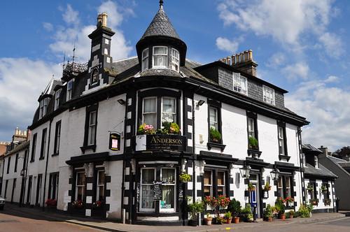 Au pub, Fortrose, Ross and Cromarty, Highlands, Ecosse, Grande-Bretagne, Royaume-Uni.