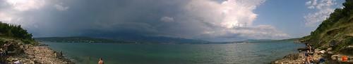 sea panorama nature clouds croatia novigrad