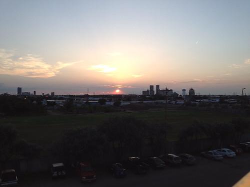 sunset sky weather skyline evening stadium sox clear amarillo ballpark
