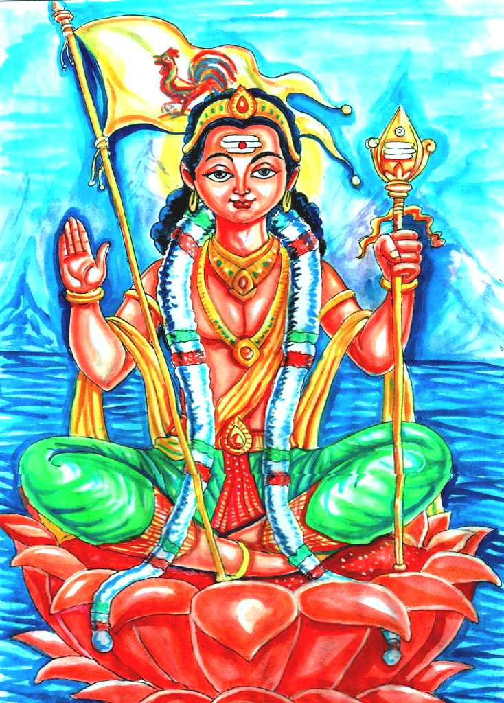 KARTHIKEYA - TAMIL POPULAR and POWERFUL GOD - Watercolor P… | Flickr