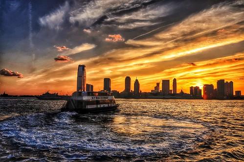 city nyc newyorkcity travel sunset sun nature skyline river photography photo newjersey spring nikon jerseycity unitedstates dusk northamerica hudsonriver dlsr d7000 brookfieldplacewaterfrontplaza