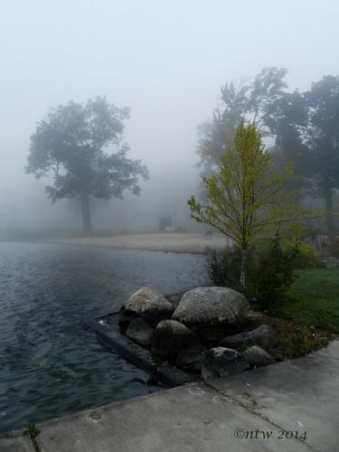 water fog sunrise nikon foggy chautauqua chautauquainstitution chautauqualake coolpixp500